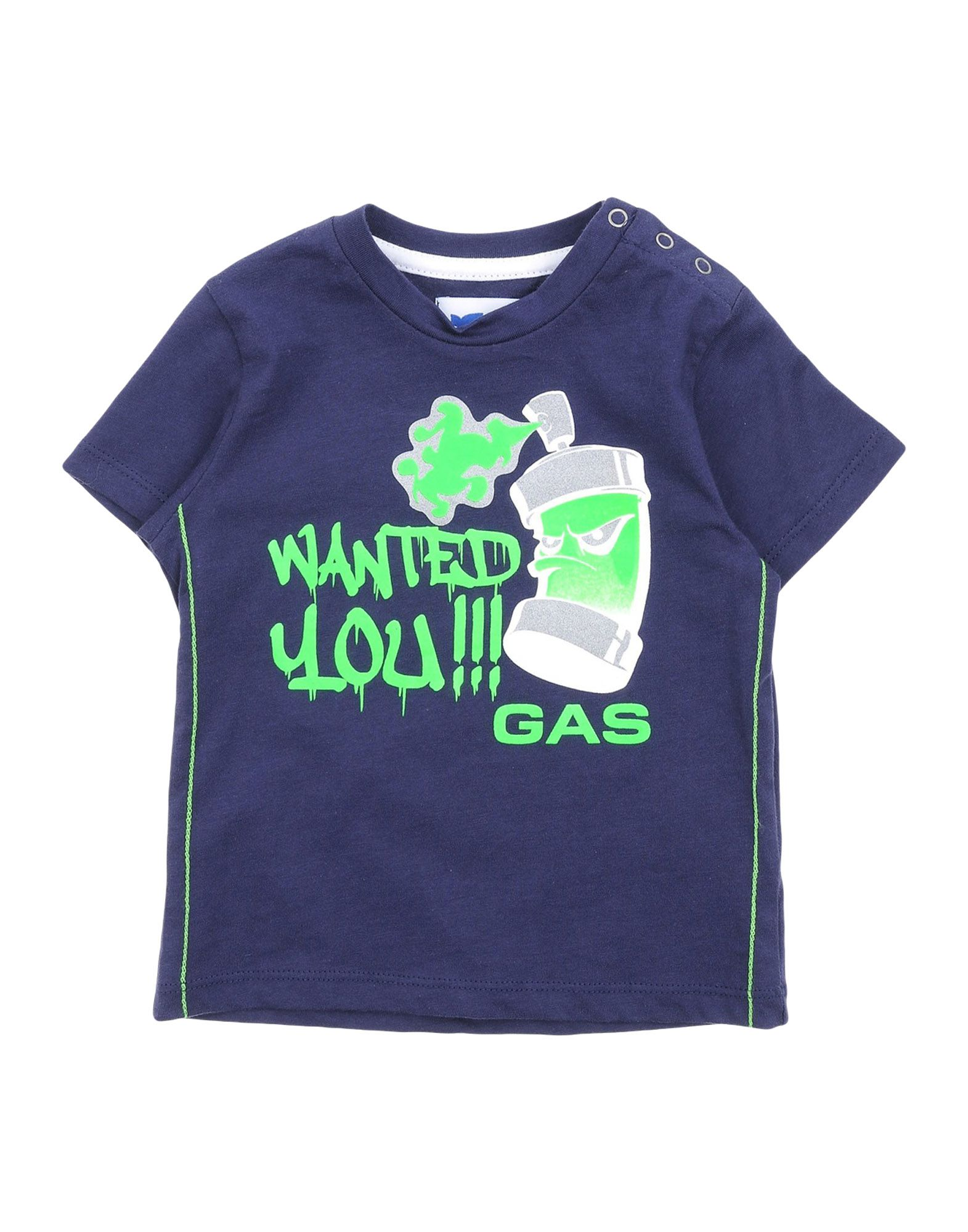 Gas Kids' T-shirts In Blue
