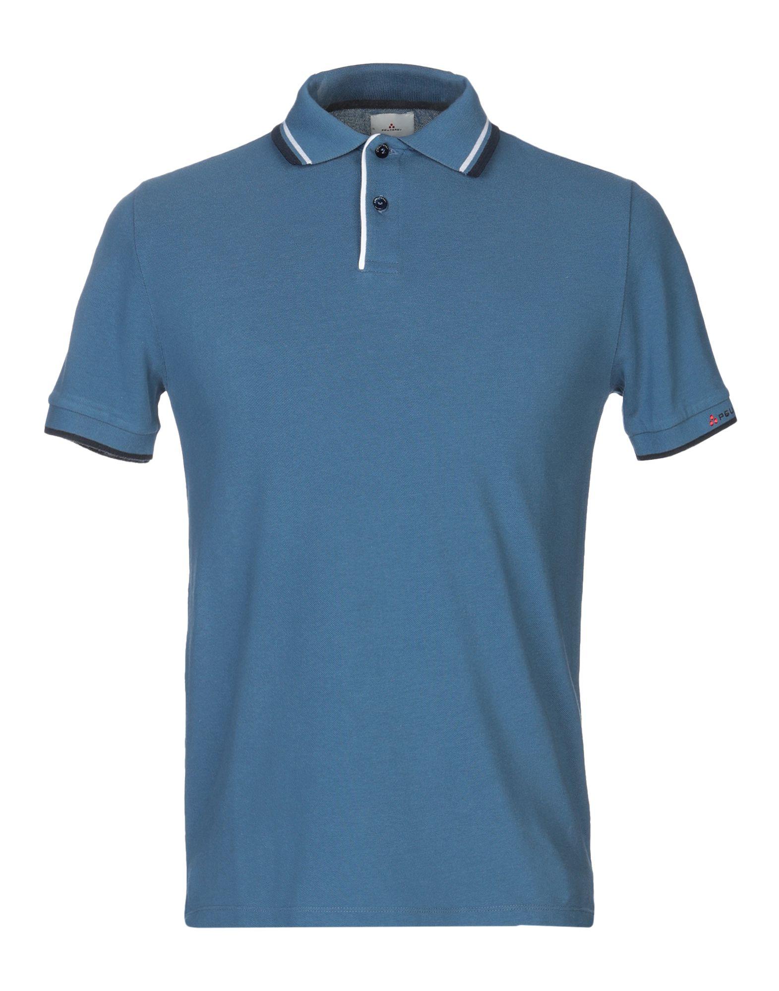 《送料無料》PEUTEREY メンズ ポロシャツ アジュールブルー XS コットン 100%