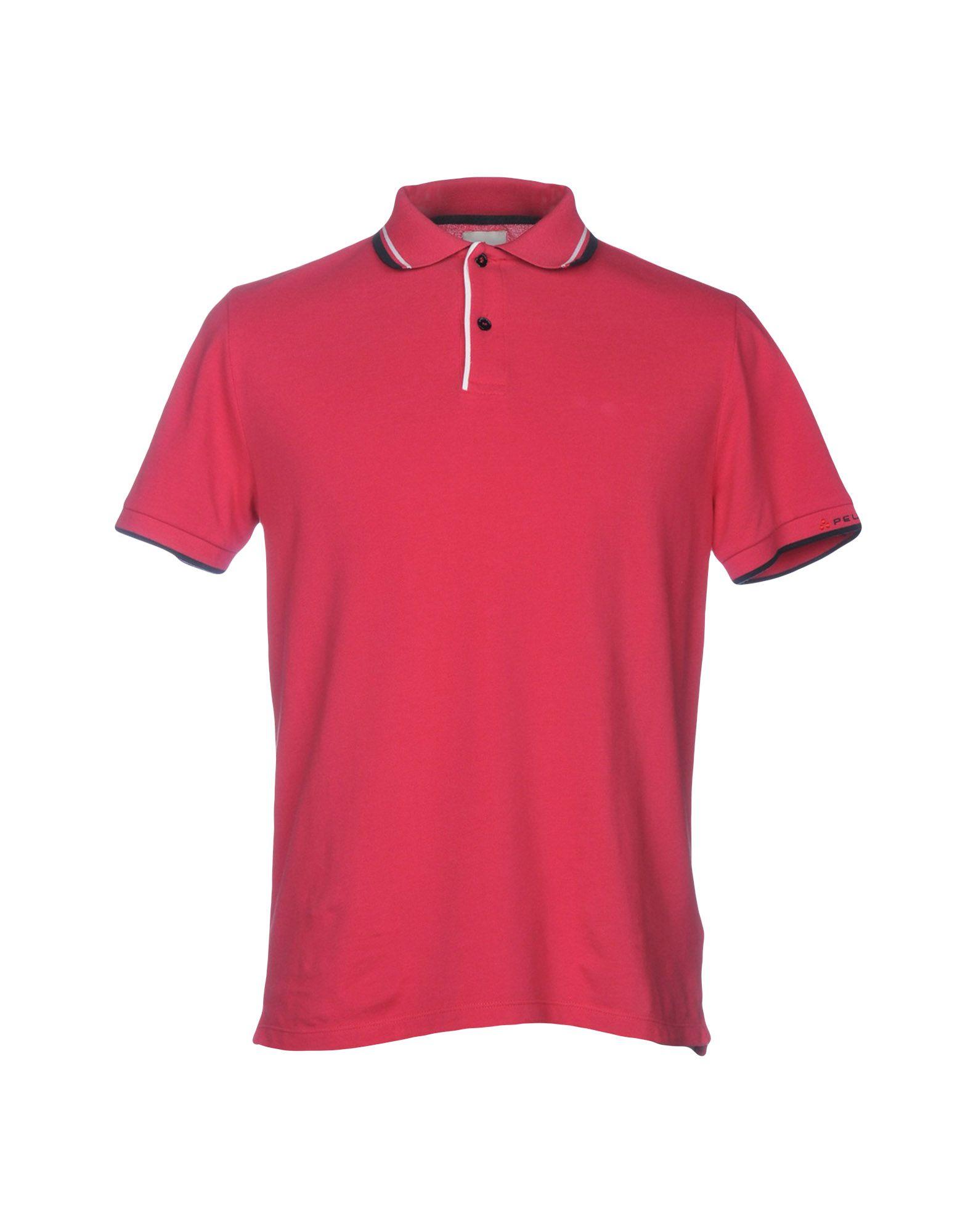 《送料無料》PEUTEREY メンズ ポロシャツ フューシャ S 100% コットン