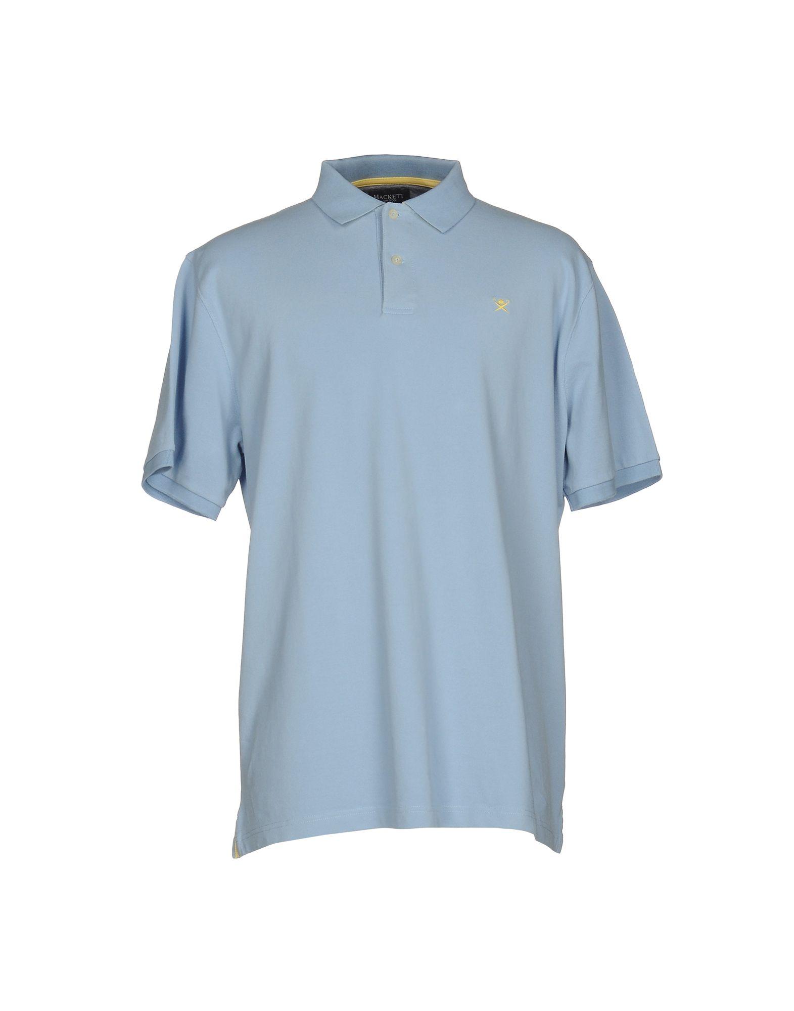 《送料無料》HACKETT メンズ ポロシャツ スカイブルー XS コットン 100%