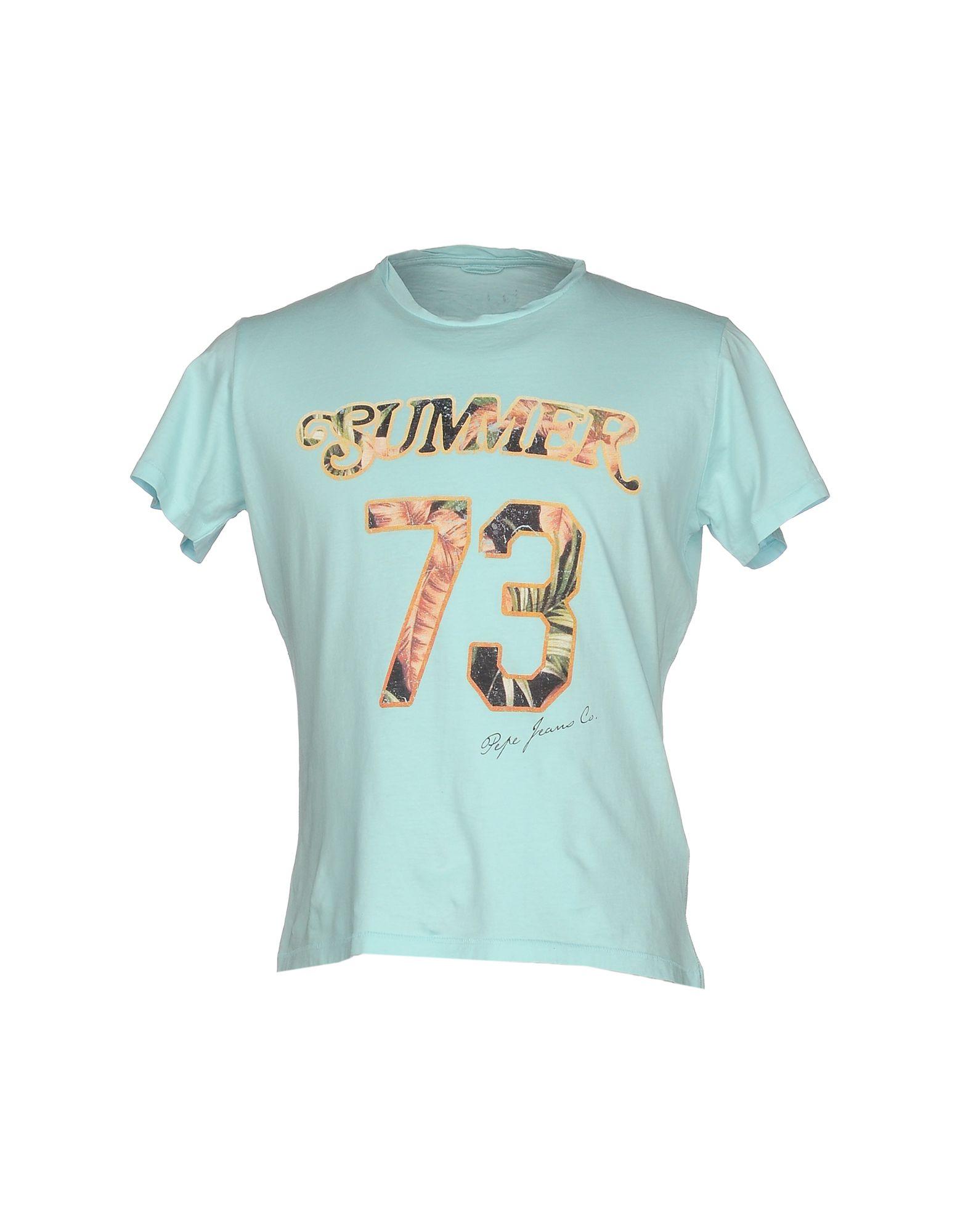 《送料無料》PEPE JEANS メンズ T シャツ ターコイズブルー XL コットン 100%