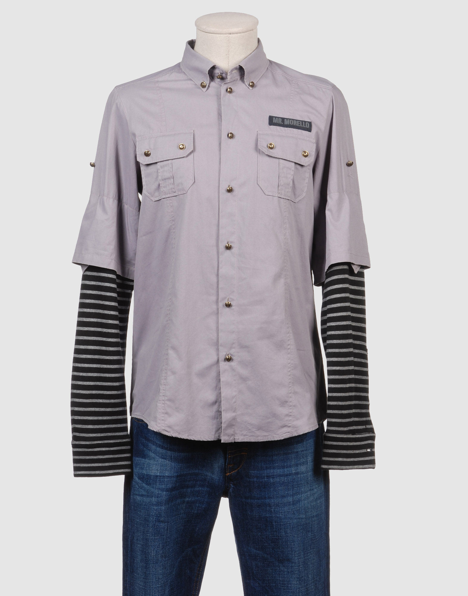 FRANKIE MORELLO Рубашка с длинными рукавами цена 2017