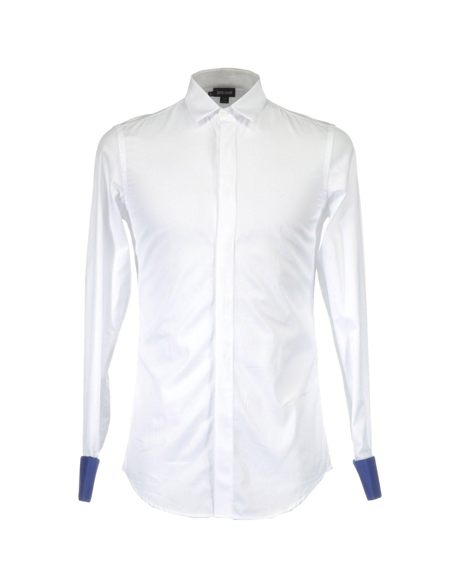 Фото - JUST CAVALLI Рубашка с длинными рукавами рубашка однотонная с длинными рукавами