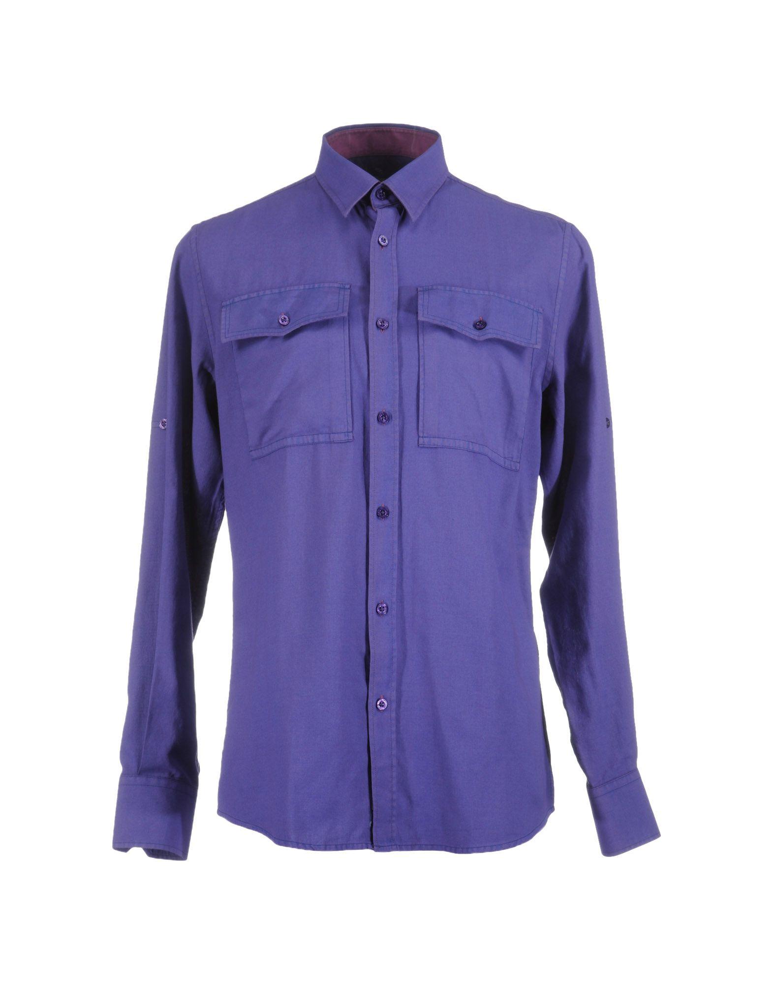 Фото - VERSACE JEANS Рубашка с длинными рукавами рубашка однотонная с длинными рукавами