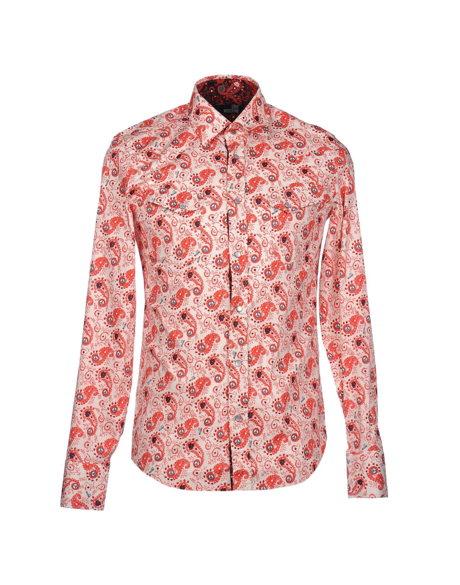 Фото - LOVE MOSCHINO Рубашка с длинными рукавами рубашка однотонная с длинными рукавами