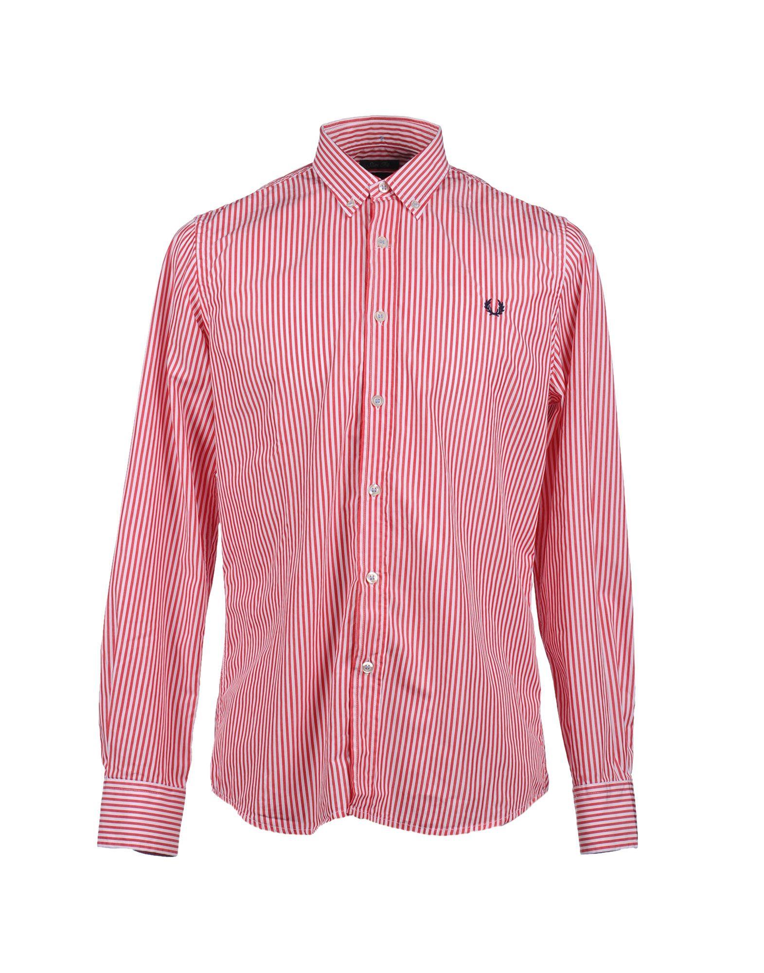 Фото - FRED PERRY Рубашка с длинными рукавами рубашка однотонная с длинными рукавами
