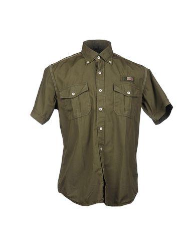 Купить Рубашку с короткими рукавами цвет зеленый-милитари