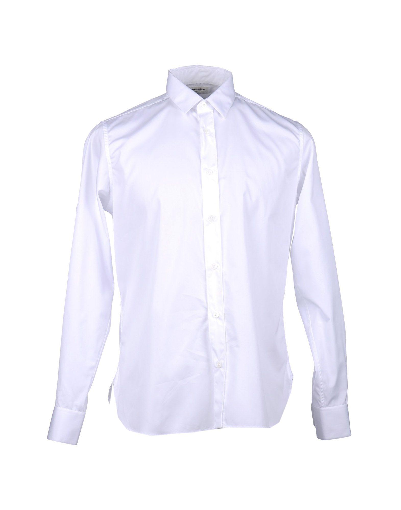 SAINT LAURENT Рубашка с длинными рукавами цена 2017