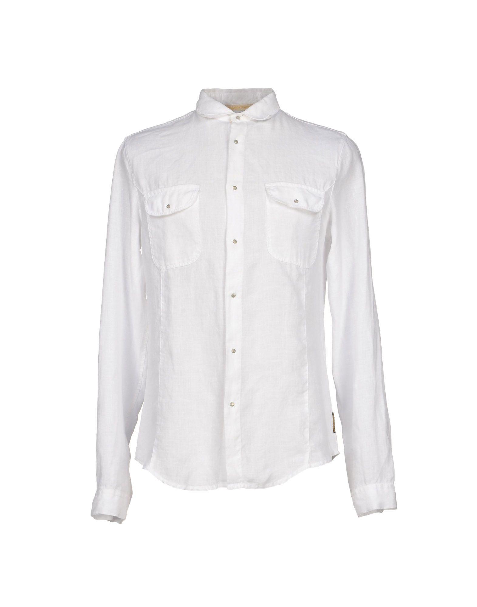 メンズ アルマーニ ジーンズ シャツ ホワイト