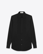 SAINT LAURENT Classic Shirts D Classic Evening Shirt in Black Cotton Poplin f