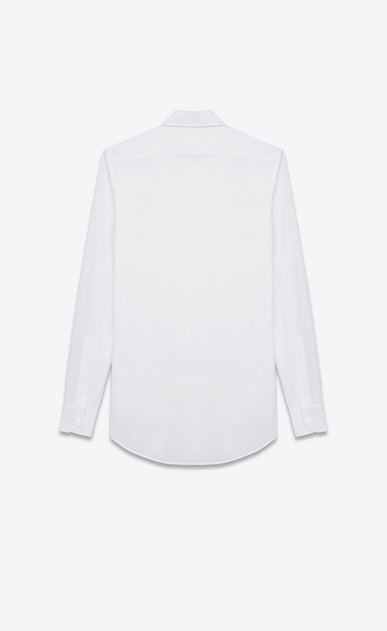 SAINT LAURENT Classic Shirts D Classic Evening Shirt in White Cotton Poplin b_V4