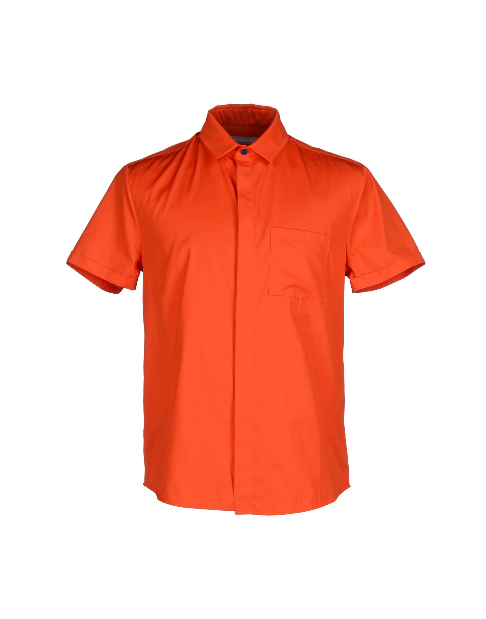 《送料無料》RICHARD NICOLL メンズ シャツ オレンジ 38 コットン 100%