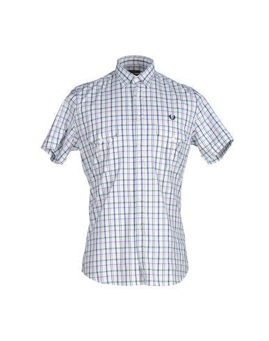 FRED PERRY メンズ シャツ ホワイト S コットン 100%