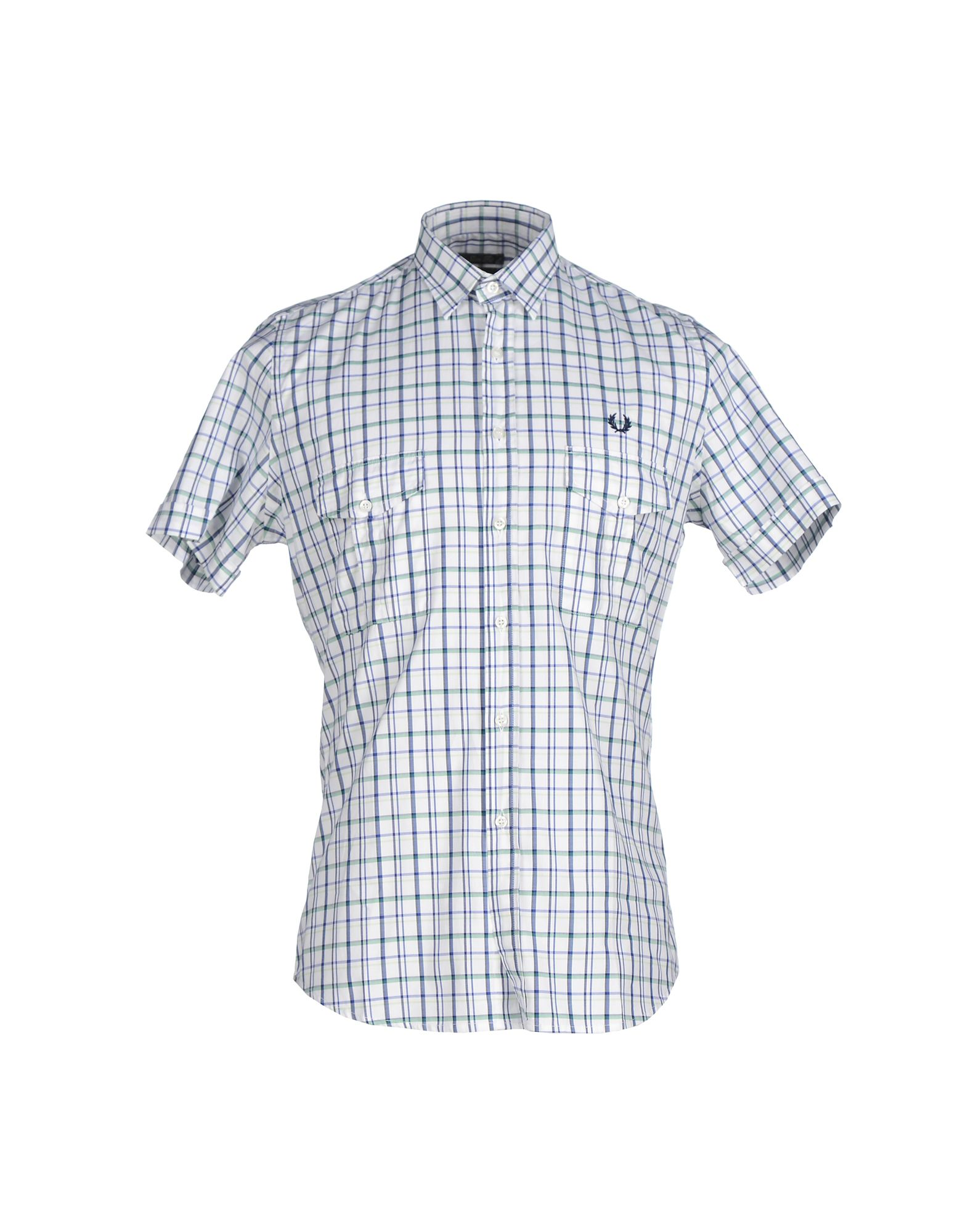 FRED PERRY メンズ シャツ ホワイト L コットン 100%