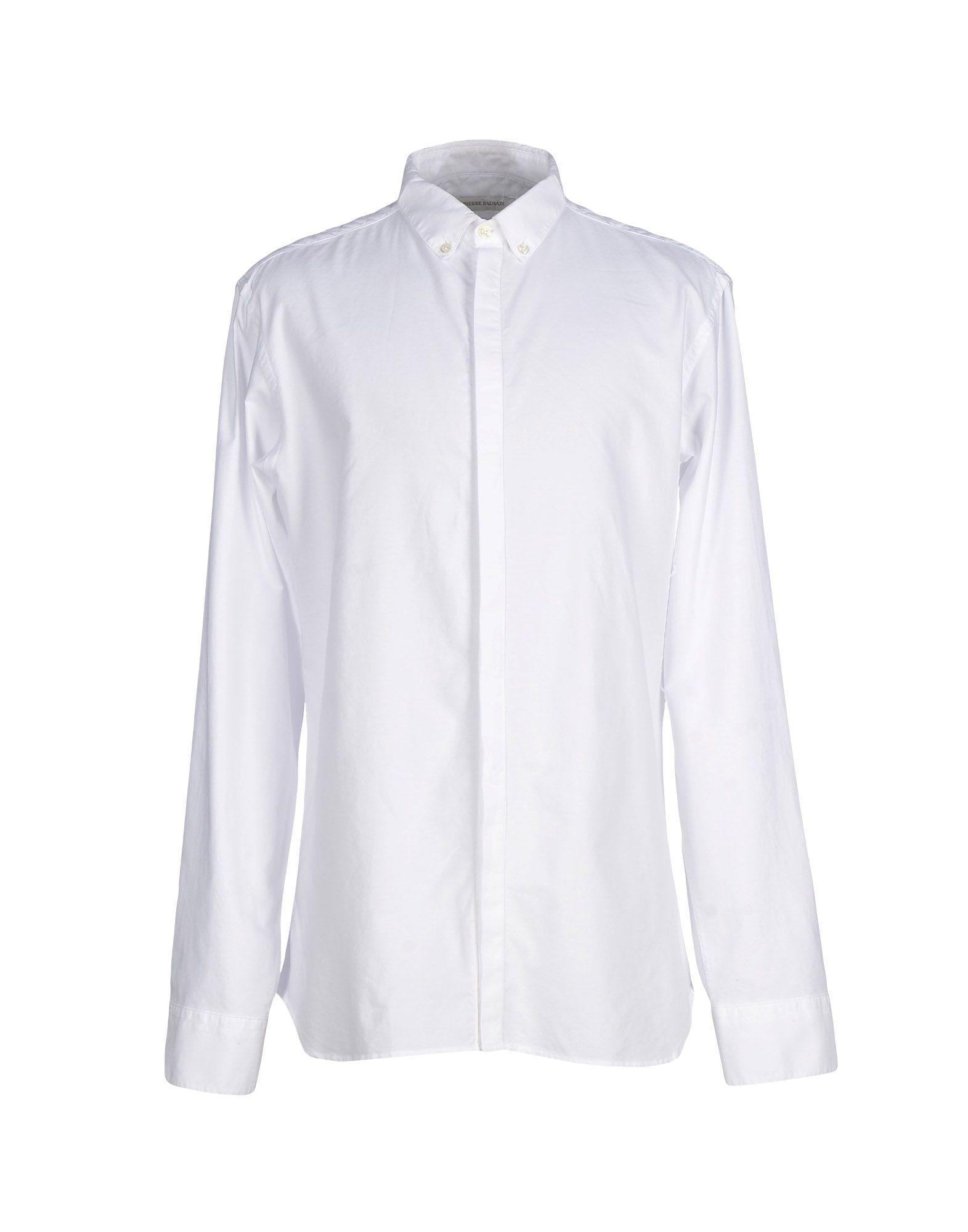 《送料無料》PIERRE BALMAIN メンズ シャツ ホワイト 43 コットン 100%
