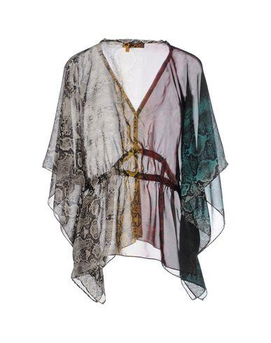 Фото 2 - Женскую блузку MANILA GRACE DENIM темно-зеленого цвета