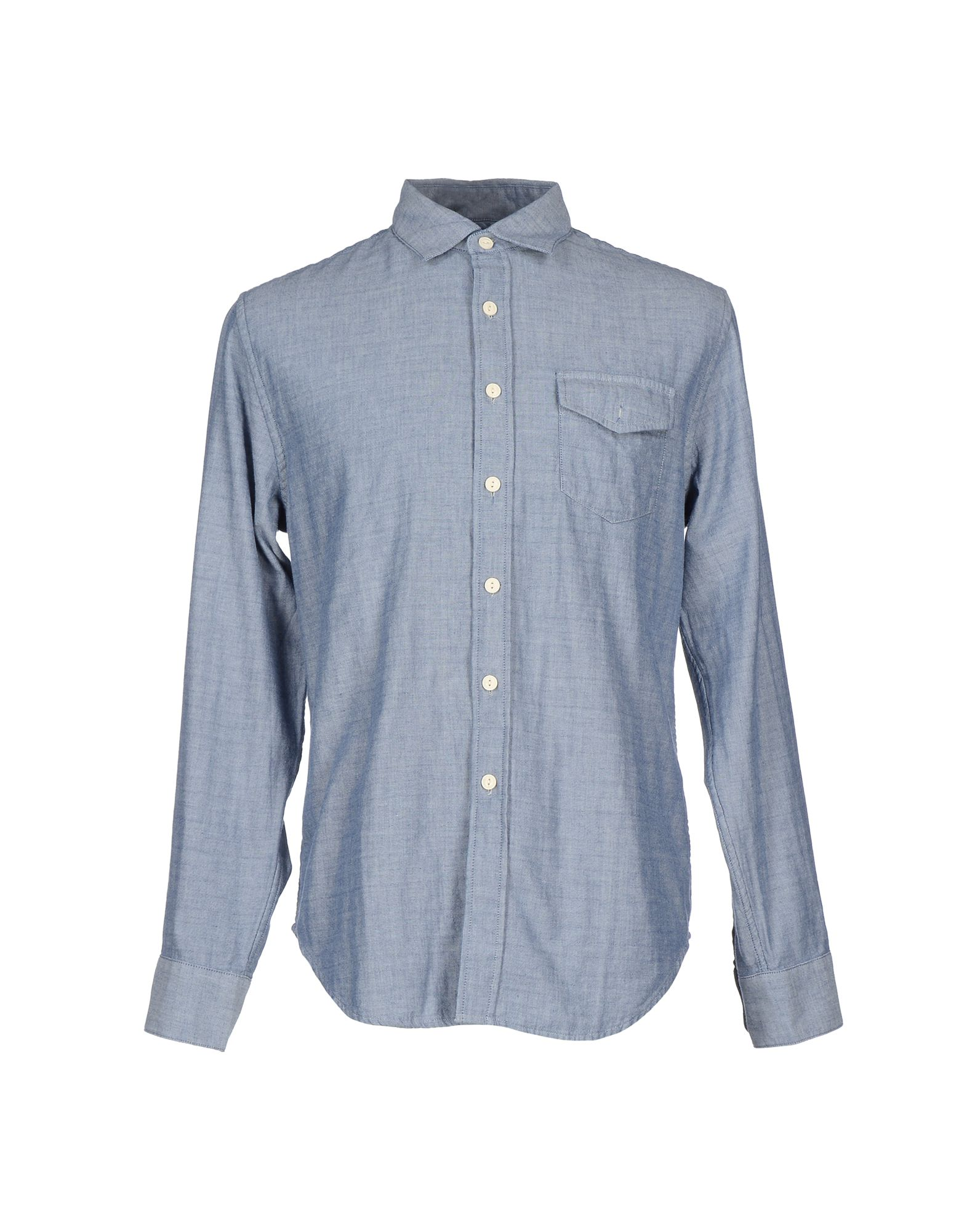 GRAYERS Solid Color Shirt in Blue