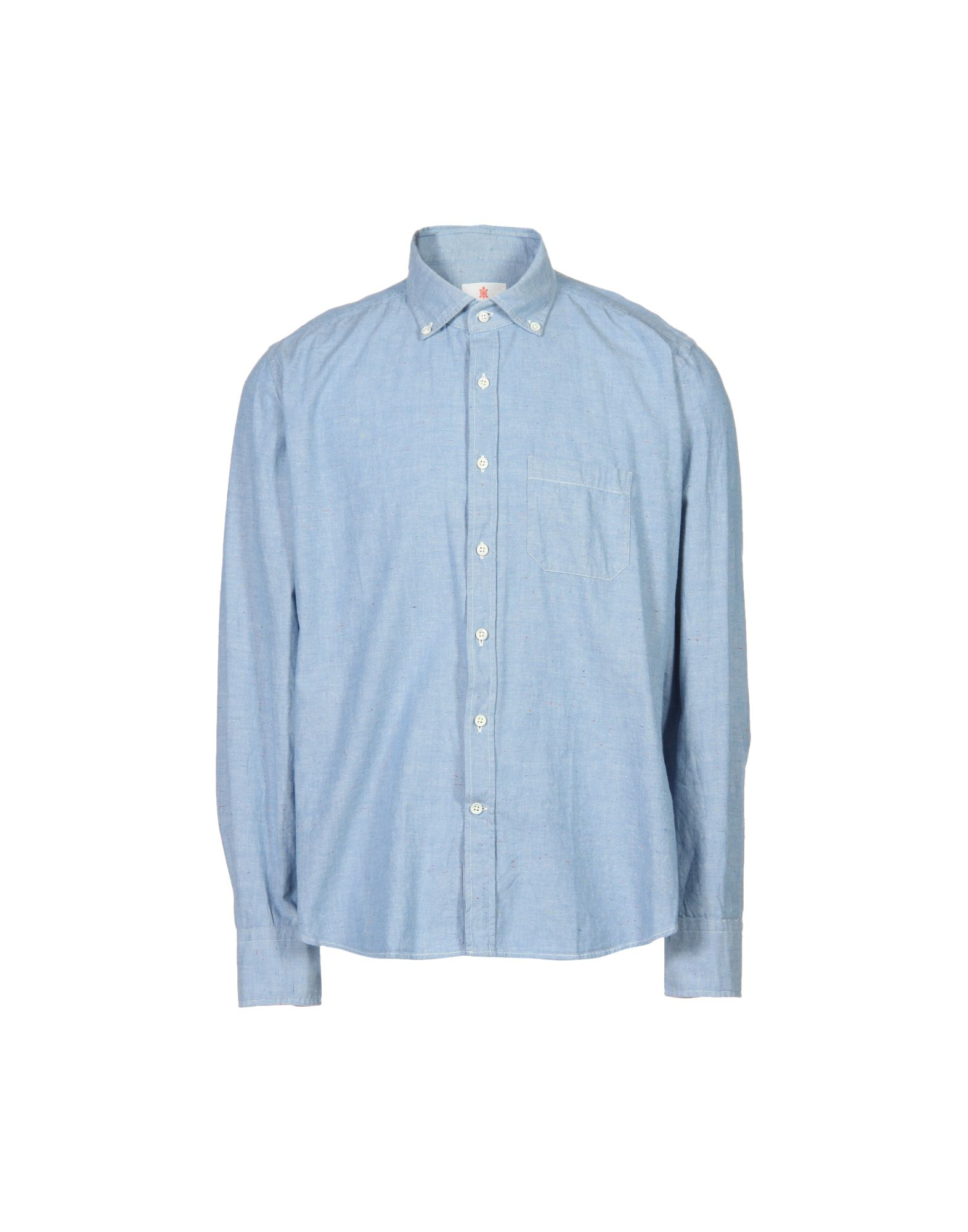 SLOWEAR Solid Color Shirt in Blue