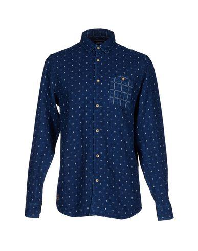 WESC メンズ シャツ ブルー S コットン 100%