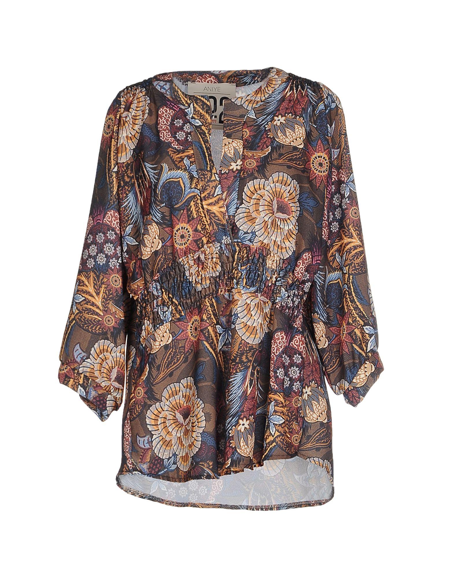 ANIYE N°2 Damen Bluse Farbe Militärgrün Größe 2