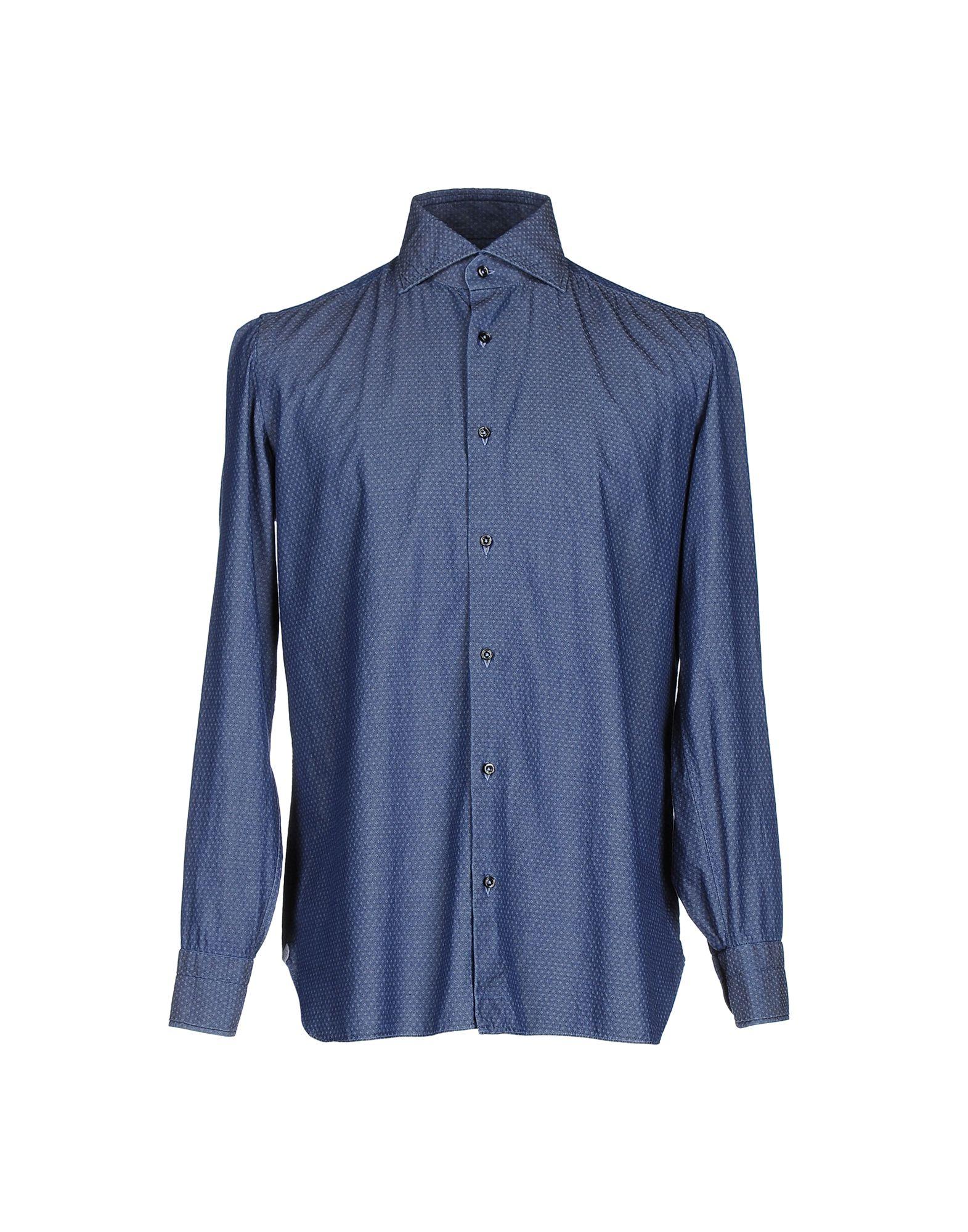 где купить  LUIGI BORRELLI NAPOLI Джинсовая рубашка  по лучшей цене