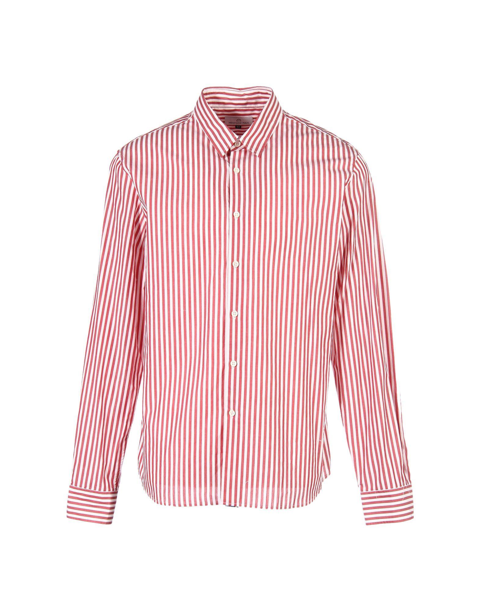 HENTSCH MAN Shirts in Red