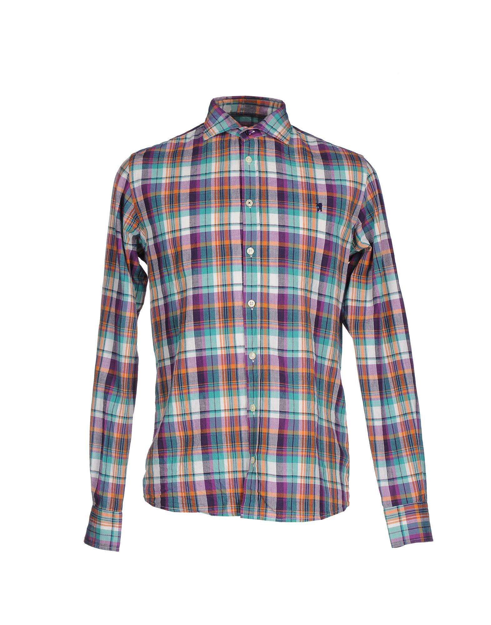 《送料無料》JAGGY メンズ シャツ ターコイズブルー 40 コットン 100%
