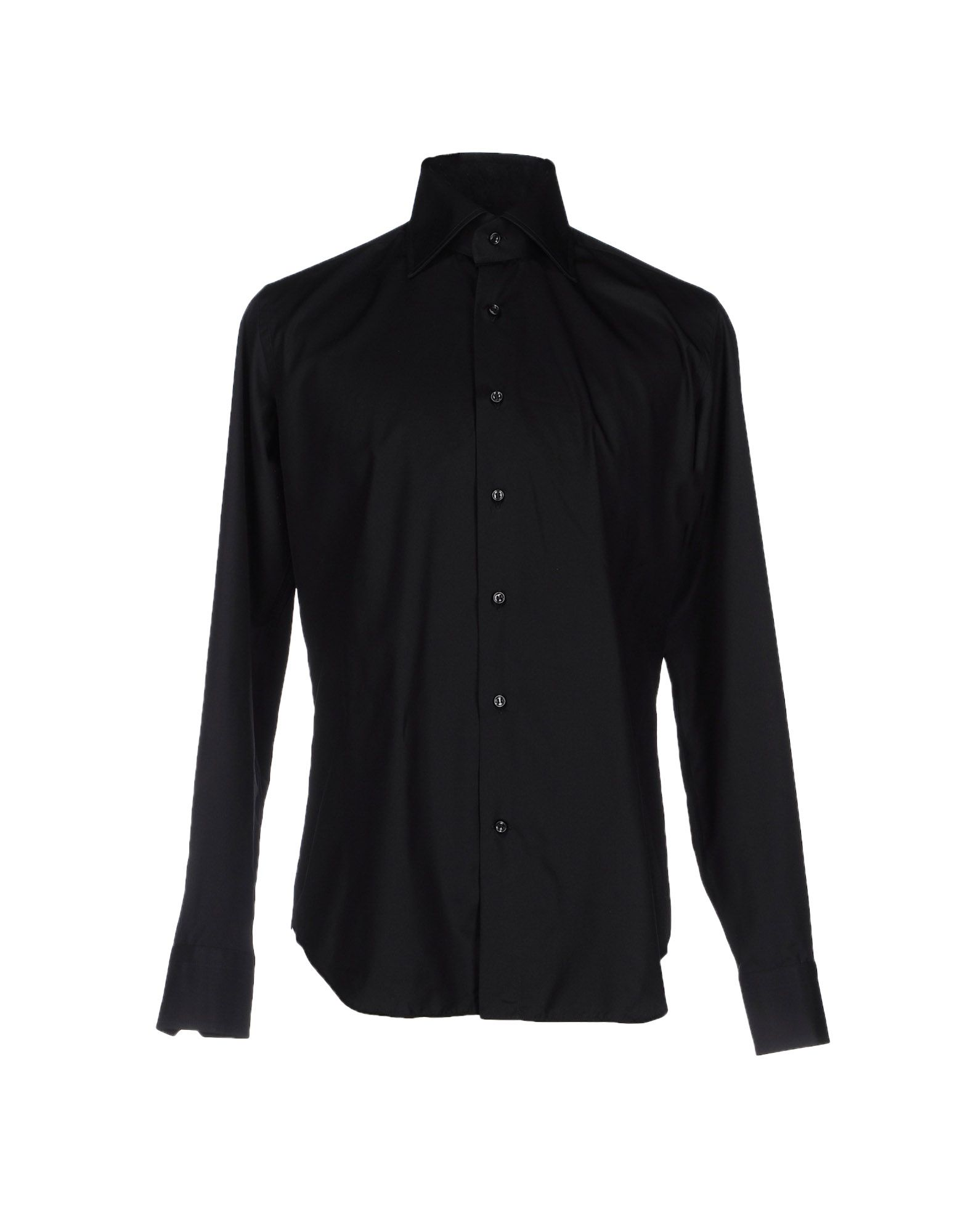 LEXINGTON Solid Color Shirt in Black