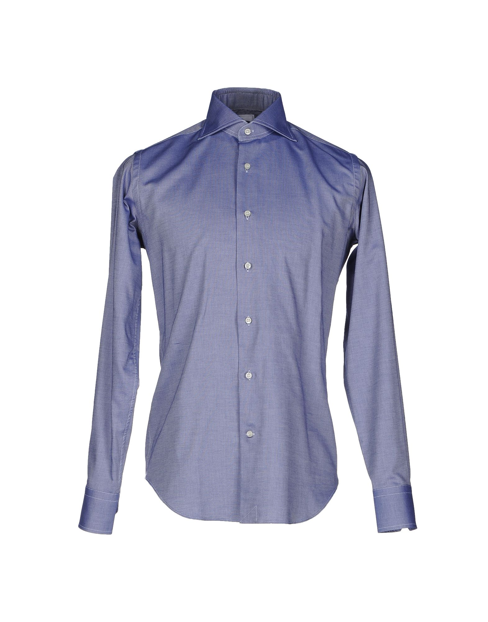 LEXINGTON Solid Color Shirt in Dark Blue