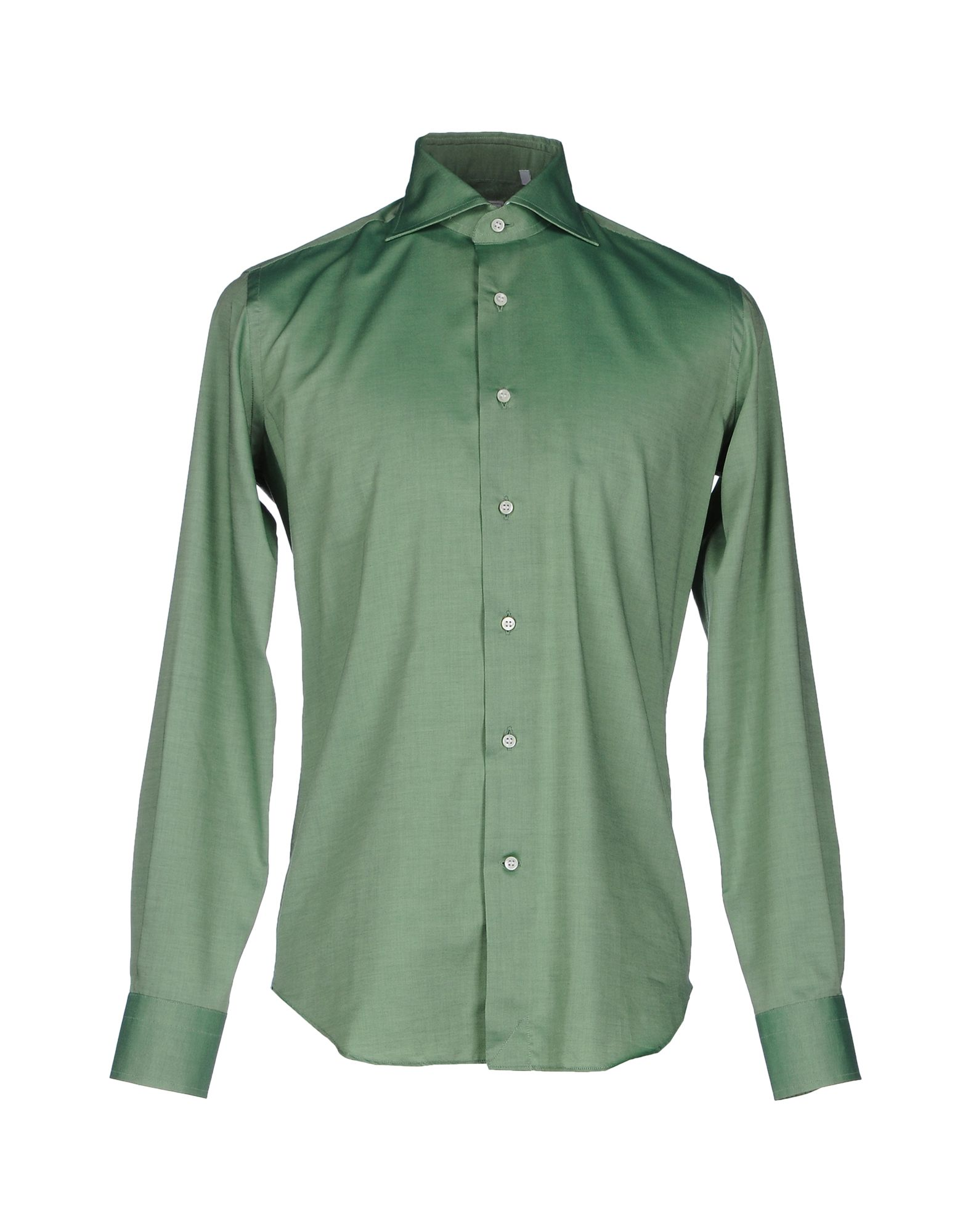 LEXINGTON Solid Color Shirt in Green