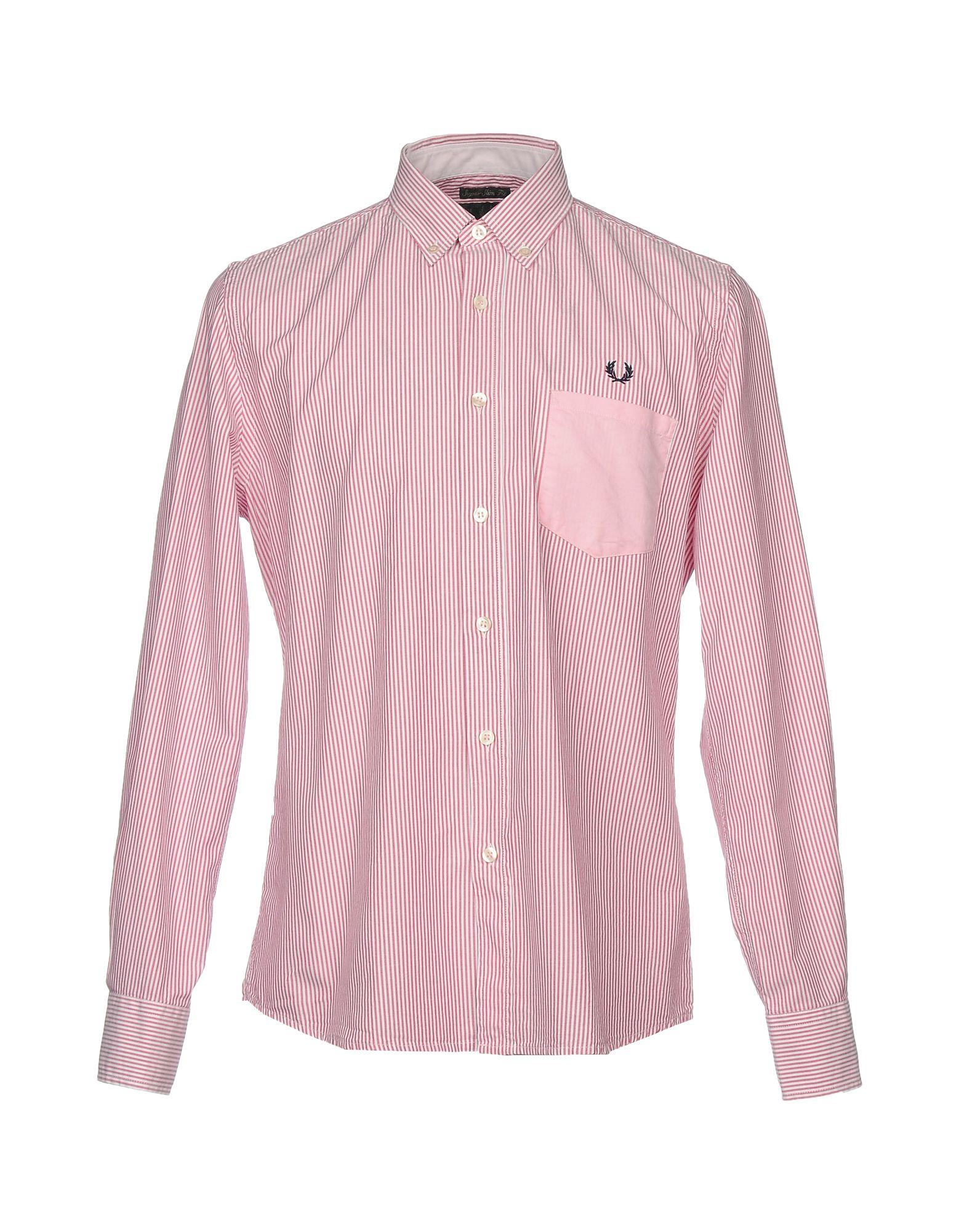 FRED PERRY Herren Hemd Farbe Ziegelrot Größe 4