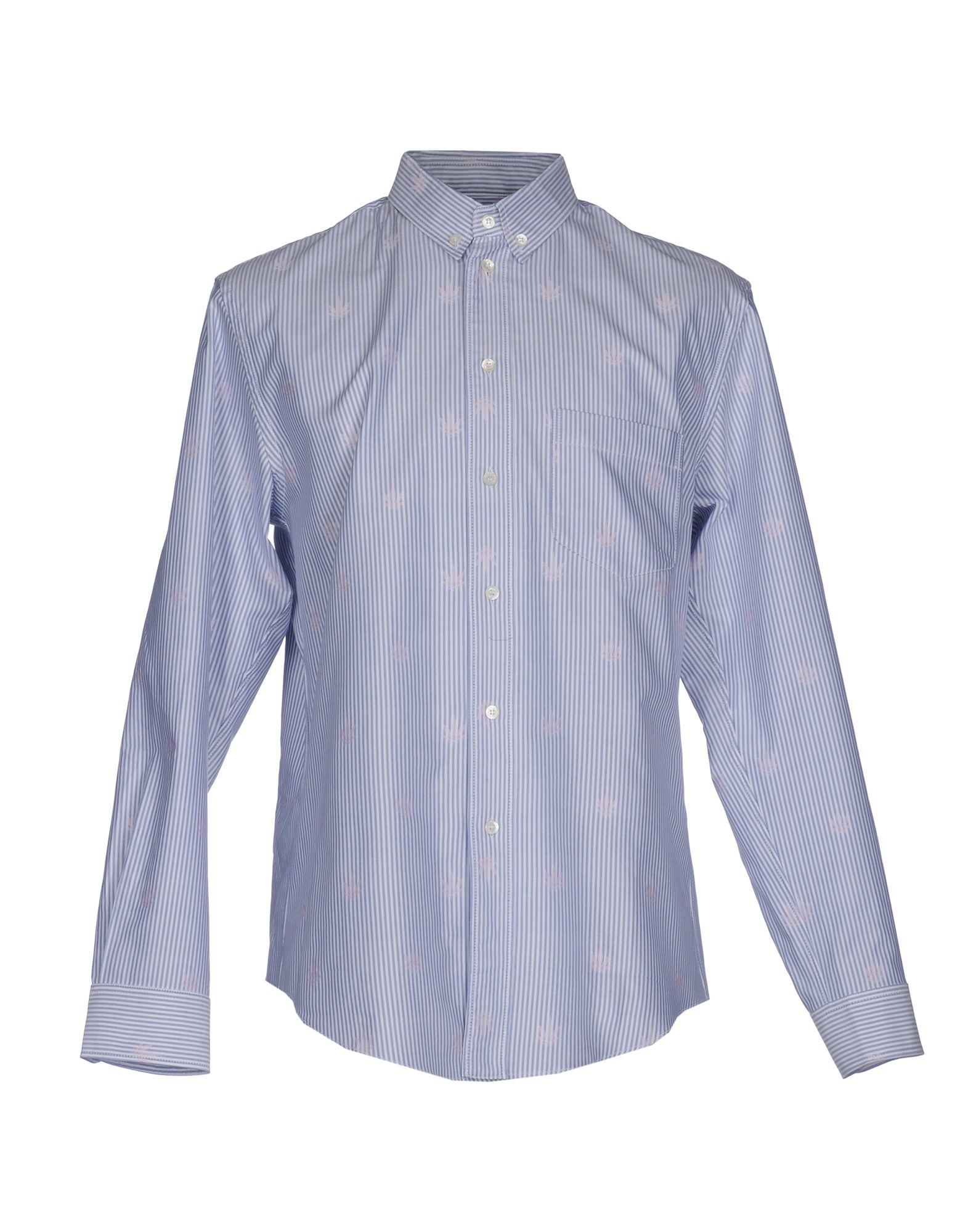 《送料無料》PALM ANGELS メンズ シャツ ブルー 52 コットン 100%