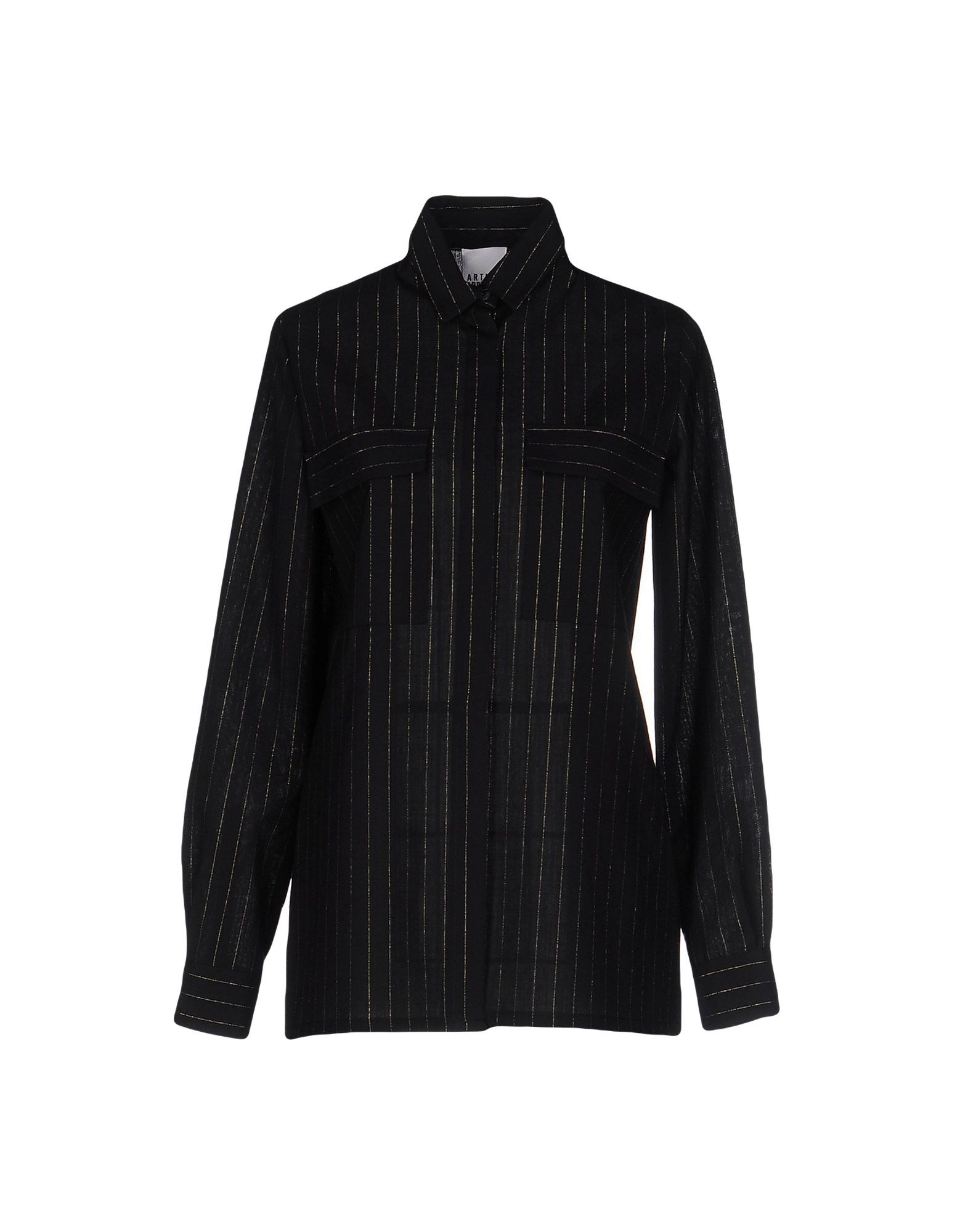 ARTHUR ARBESSER Striped Shirt in Black