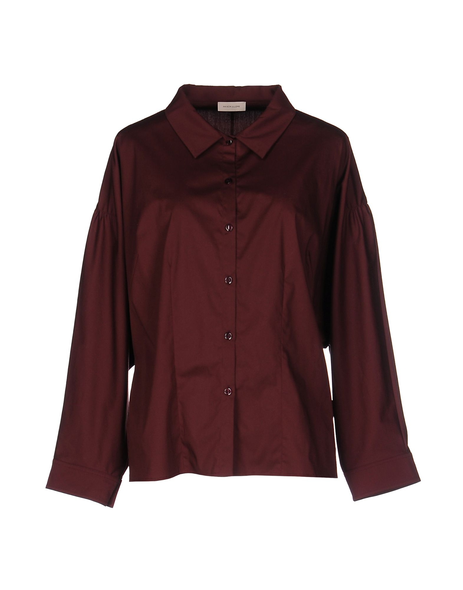 MAISON ULLENS Solid Color Shirts & Blouses in Maroon