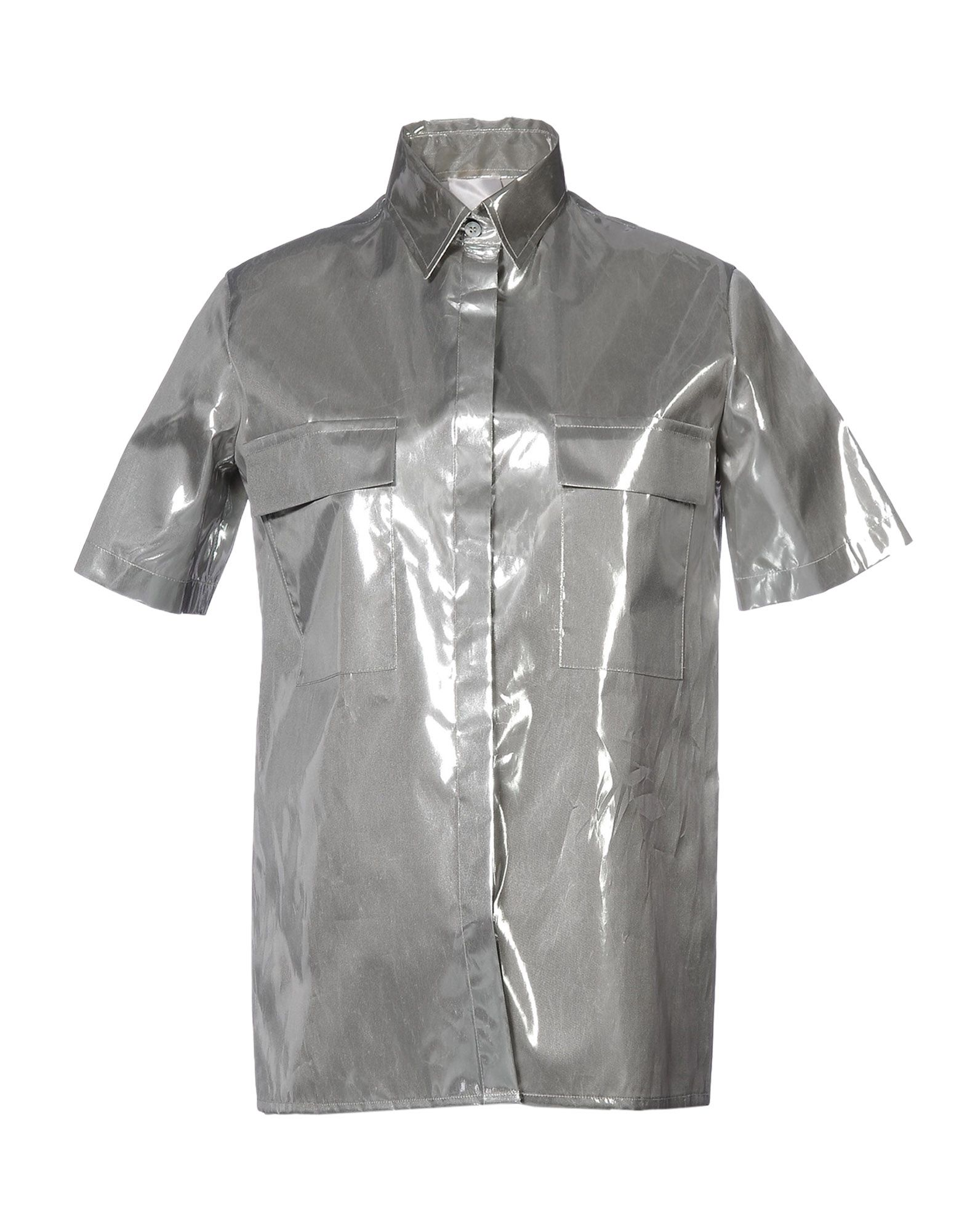 ARTHUR ARBESSER Solid Color Shirts & Blouses in Silver