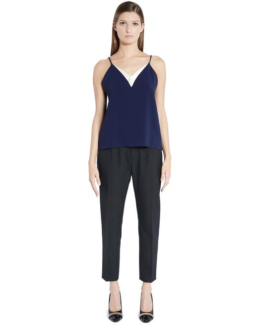 lanvin satin crêpe top women