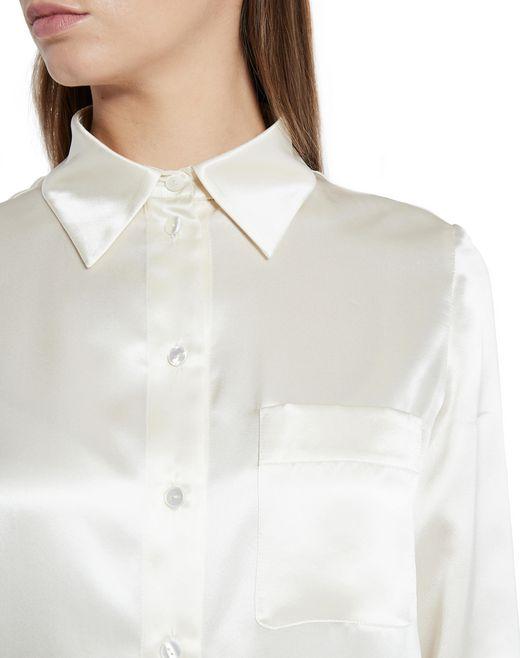 lanvin silk lingerie style satin blouse women
