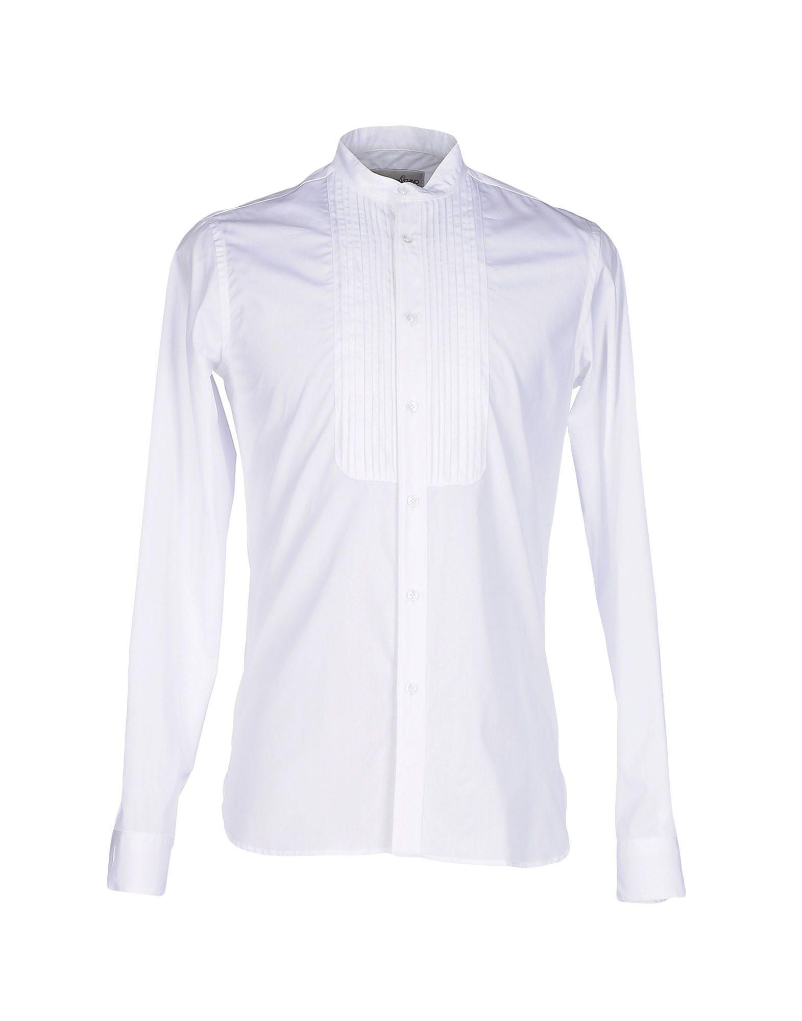 MAISON LVCHINO Solid Color Shirt in White