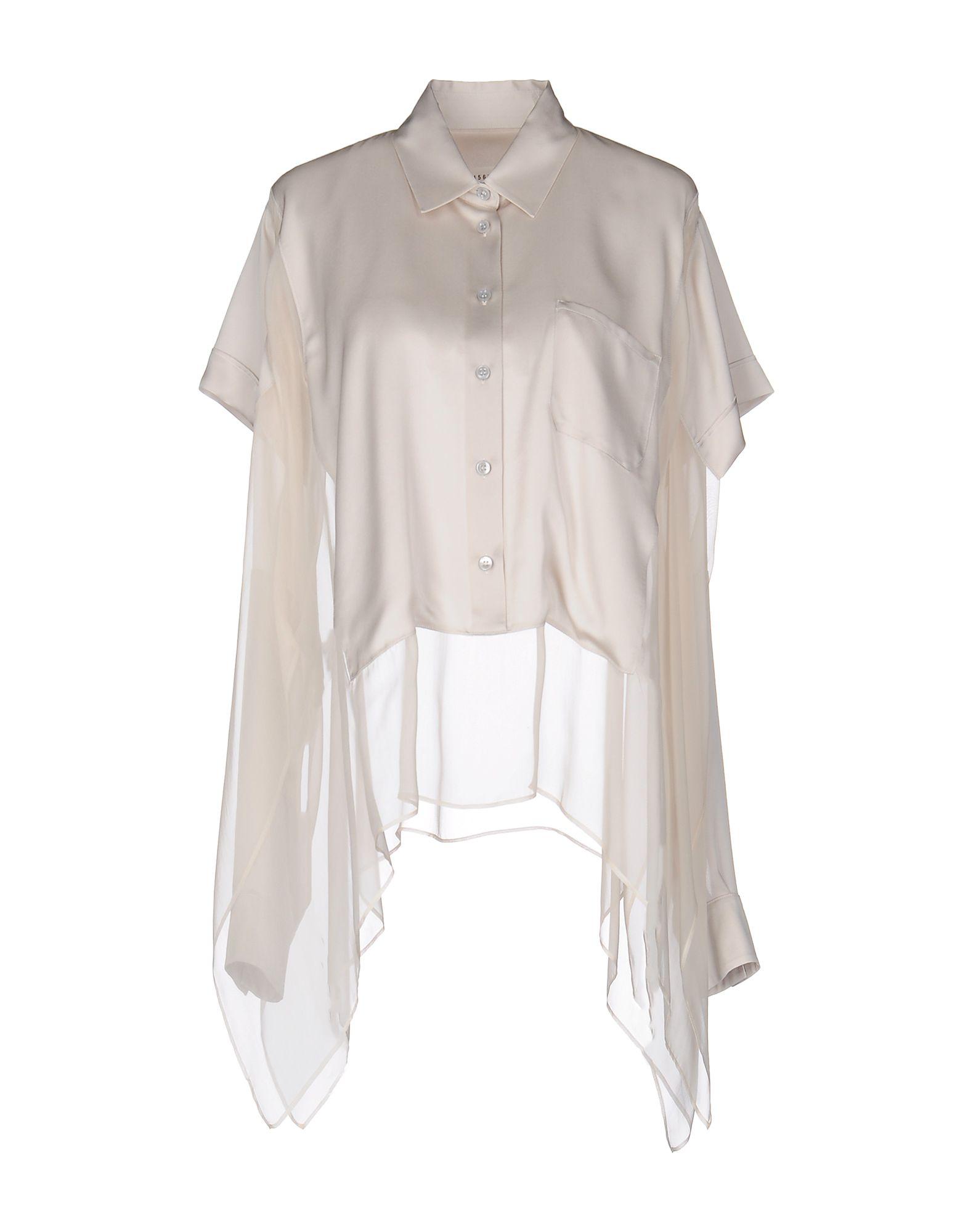 MAISON MARGIELA Damen Hemd Farbe Beige Größe 3