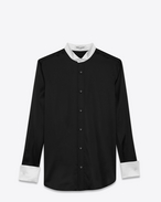 SAINT LAURENT Top e Bluse D Camicia con collo ad aletta nera in seta f