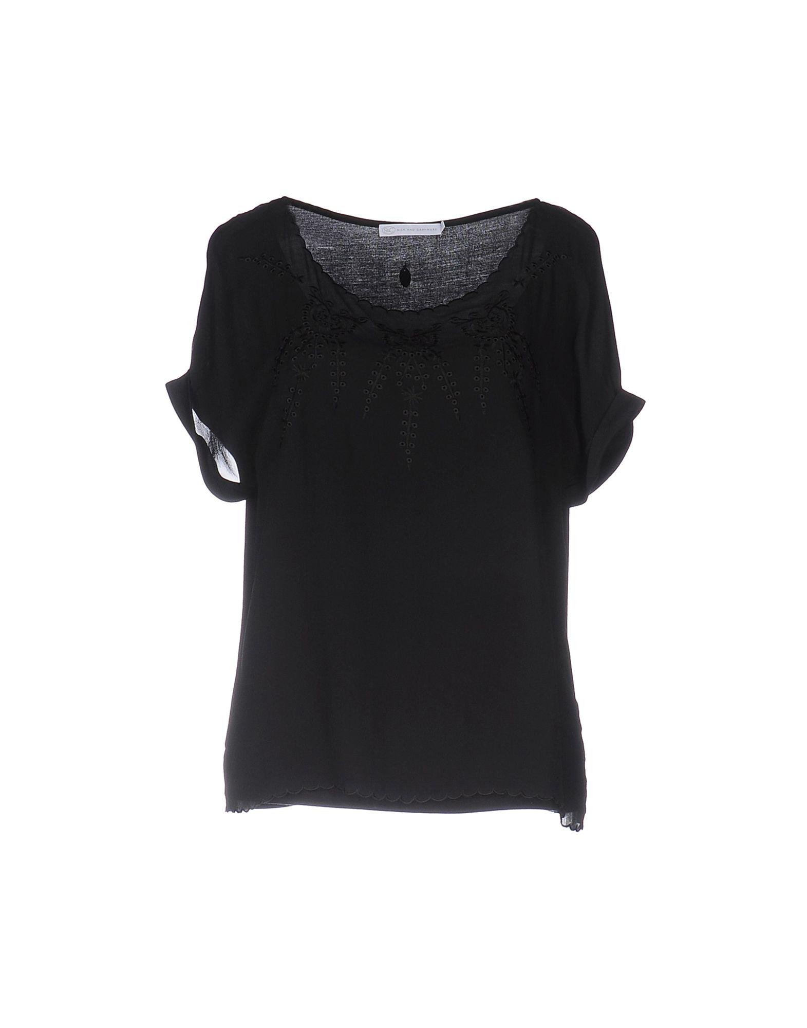 SILK AND CASHMERE Блузка silk and cashmere футболка