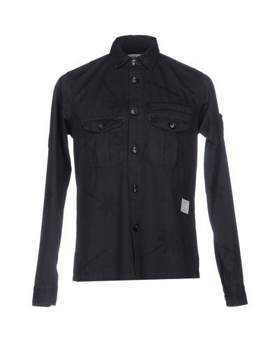 Купить Pубашка от THE EDITOR темно-синего цвета