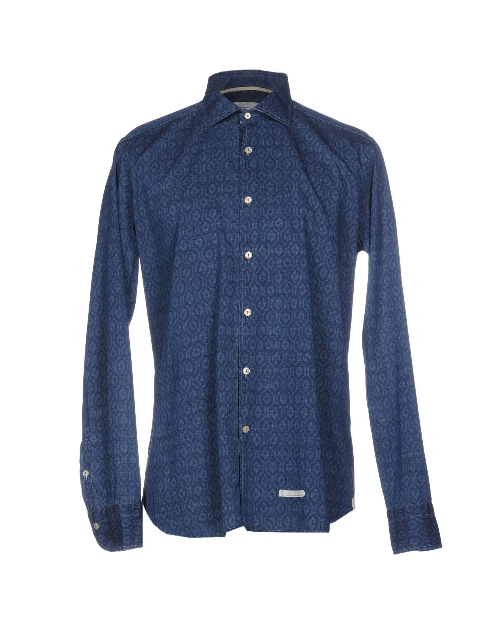 《セール開催中》TINTORIA MATTEI 954 メンズ シャツ ブルー 39 コットン 100%