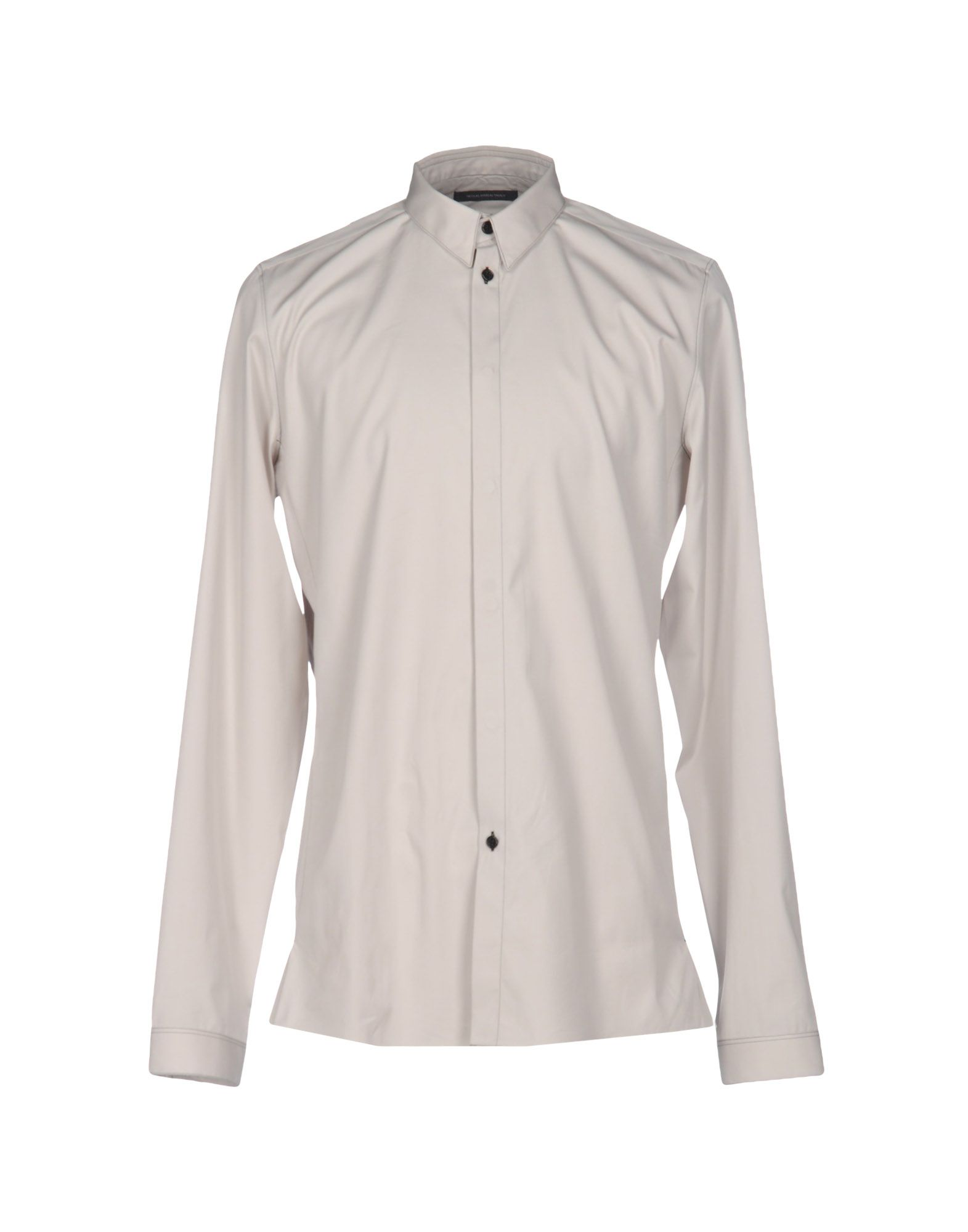 NICOLAS ANDREAS TARALIS Solid Color Shirt in Light Grey