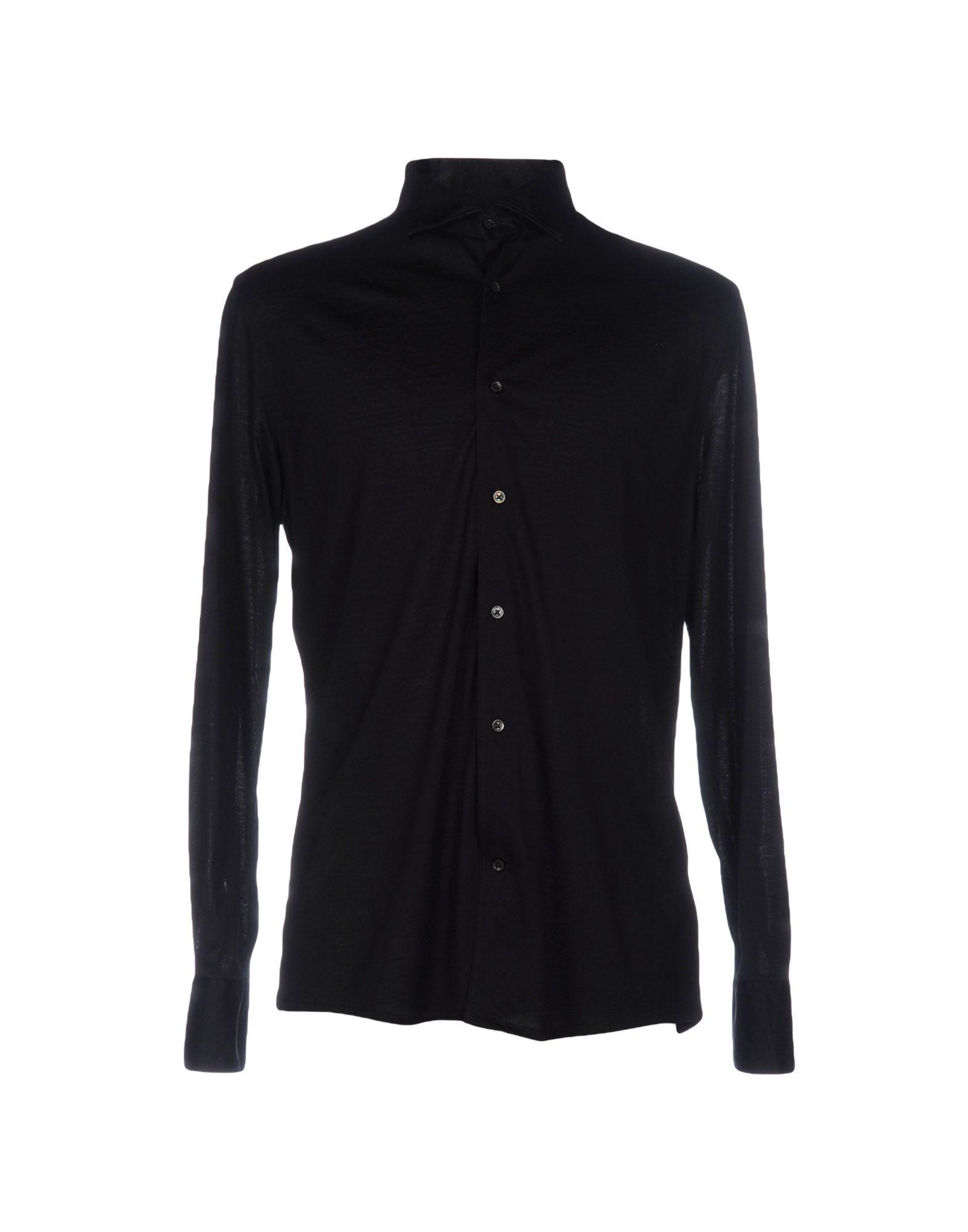 《セール開催中》ALESSANDRO DELL'ACQUA メンズ シャツ ブラック S コットン 100%