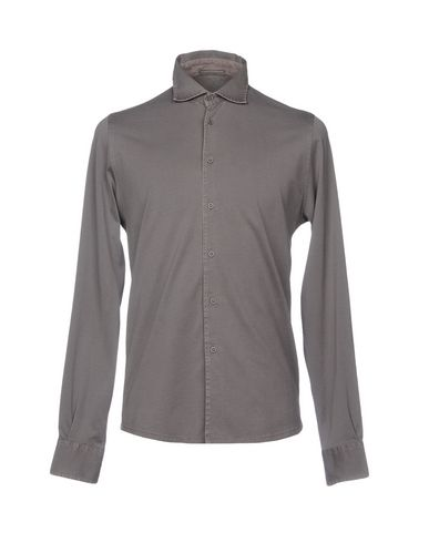Фото - Pубашка от FILIPPO DE LAURENTIIS свинцово-серого цвета