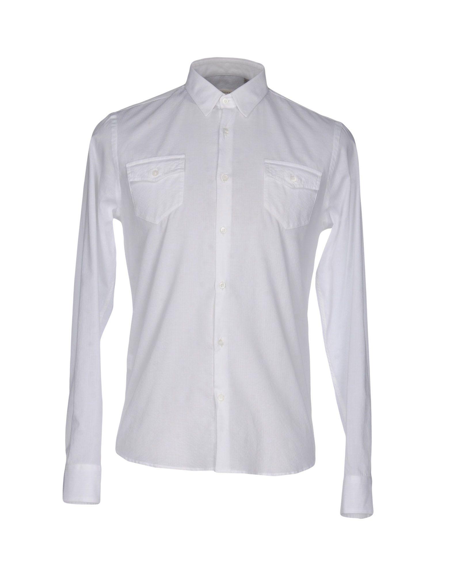 《送料無料》OBVIOUS BASIC メンズ シャツ ホワイト 39 コットン 100%