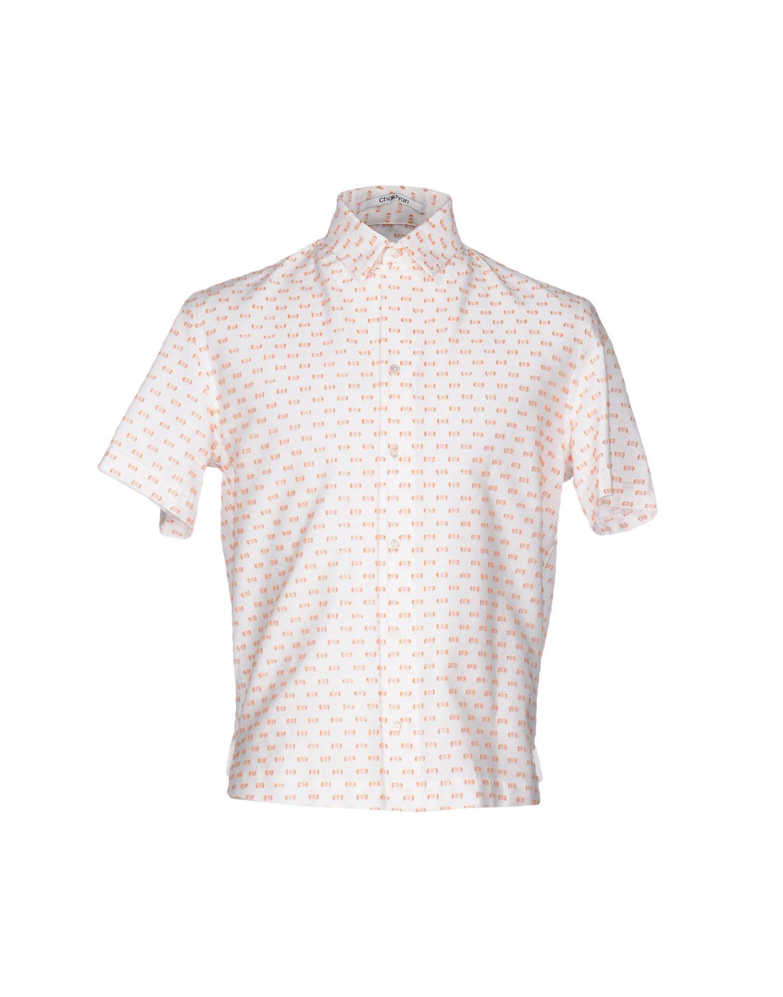 メンズ CHALAYAN シャツ ホワイト