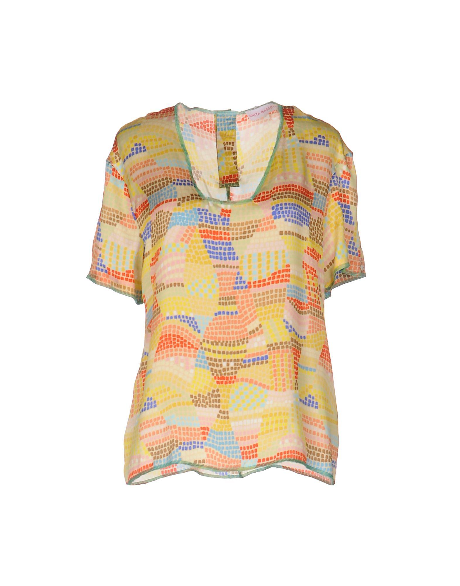 ANITA BASSETTI Damen Bluse Farbe Gelb Größe 3