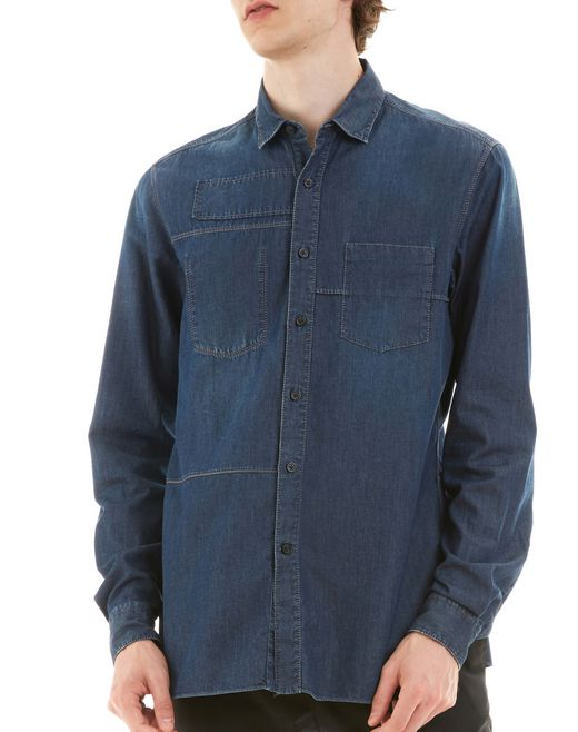 lanvin denim shirt men